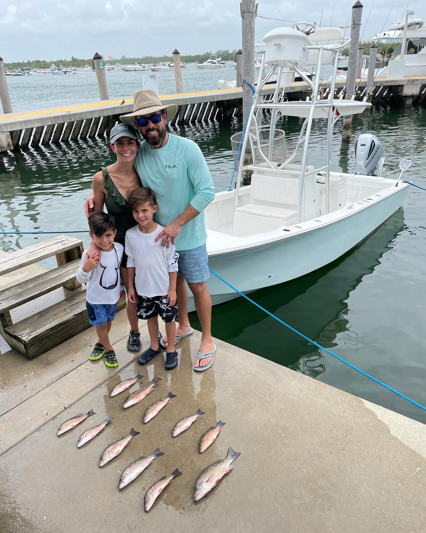 I took a beautiful family fishing today. They caught a pile of Mangrove Snappers up to 17 inches, a couple Jack Crevalles and Dad caught a Nurse Shark to end the day. The boys let go another 20 Snappers and everyone had a blast. #GOHARDFISHING #ITRYHARD #greatfamily #miamibeach #charterfishing @starbrite_com @pennfishing @hookerelectricreels @captharrysfishingsupply thank you @sachi_acosta and fam!
