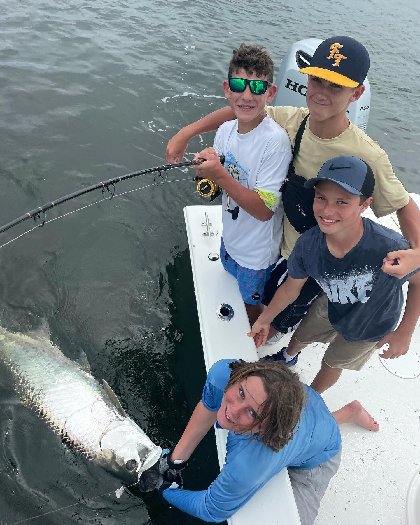 Tarpon, Seatrout, Grouper, Snapper, Shark and a few more critters made for a heck of a memorable graduation trip today for the local squad of groms. Thank you Louisa and all the mommas for sending your boys out with me. #GOHARDFISHING #miamisluckiestcharterboat #miamibeach #charterfishing #INSHORE #LIGHTTACKLE #INSHOREGUIDE #GOHARDINTHEPAINT YOU BOYS DID GREAT WORK today @_they.luvj_ @jongourrier @mathias_campbell_12 @javierrodriguez4337