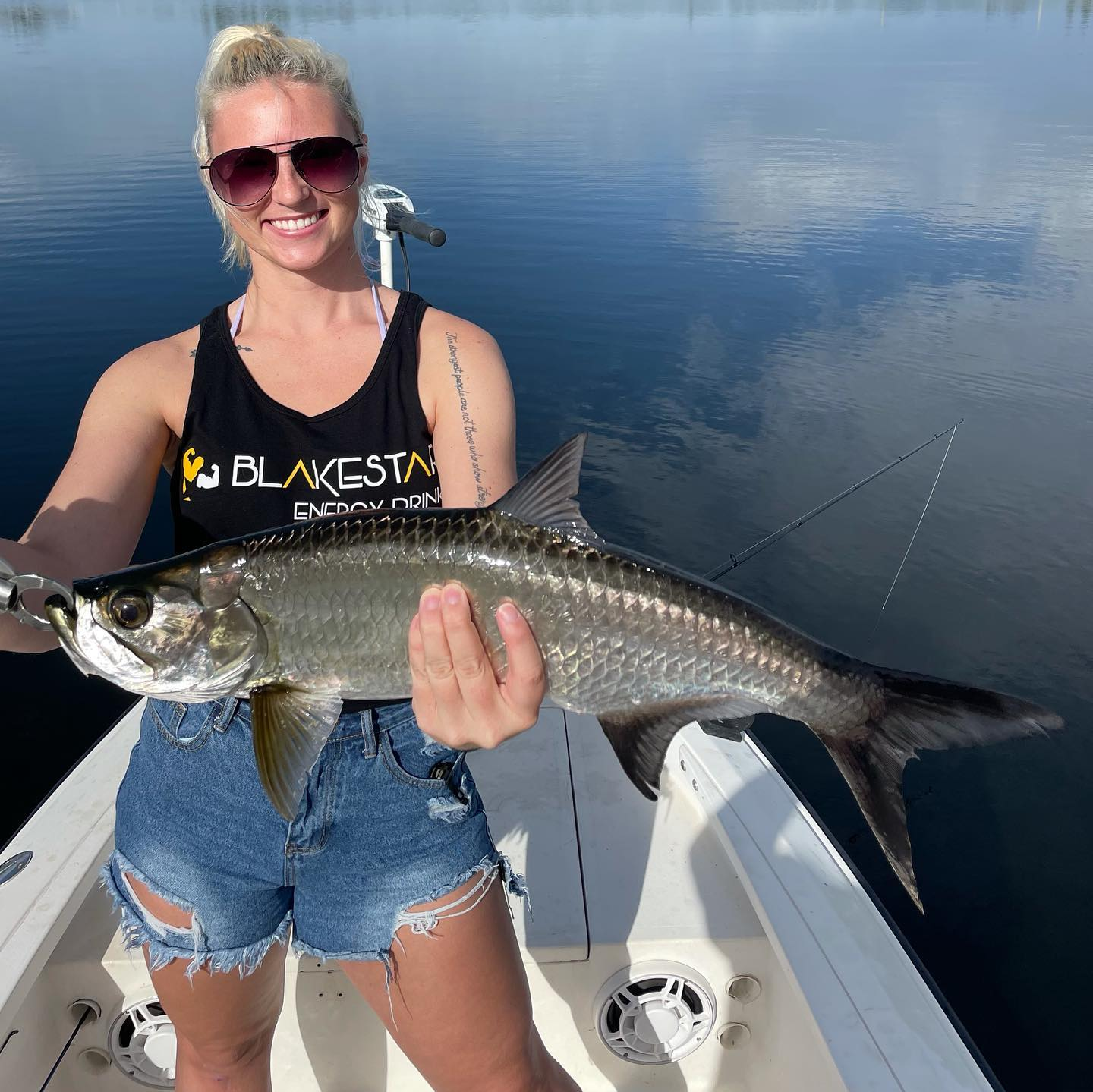 #MAGICCITYSLAM for Lainie, and a Magic City Slam for Hudson this morning aboard my skiff! They came down from North Carolina and had a blast catching their' first 4 Tarpon, their' first 2 Snook, A few Peacock Bass, a 15 lb Jack Crevalle and a Largemouth Bass. Thank you so both much for an action-packed memorable morning fishing with 8 lb spin tackle, and thank you @reeldealadventures for the referral. #GOHARDFISHING #miami #charterfishing #itryreallyhard #miamisluckiestcharterboat #lighttackle @starbrite_com @costasunglasses @pennfishing #GOHARDINTHEPAINT