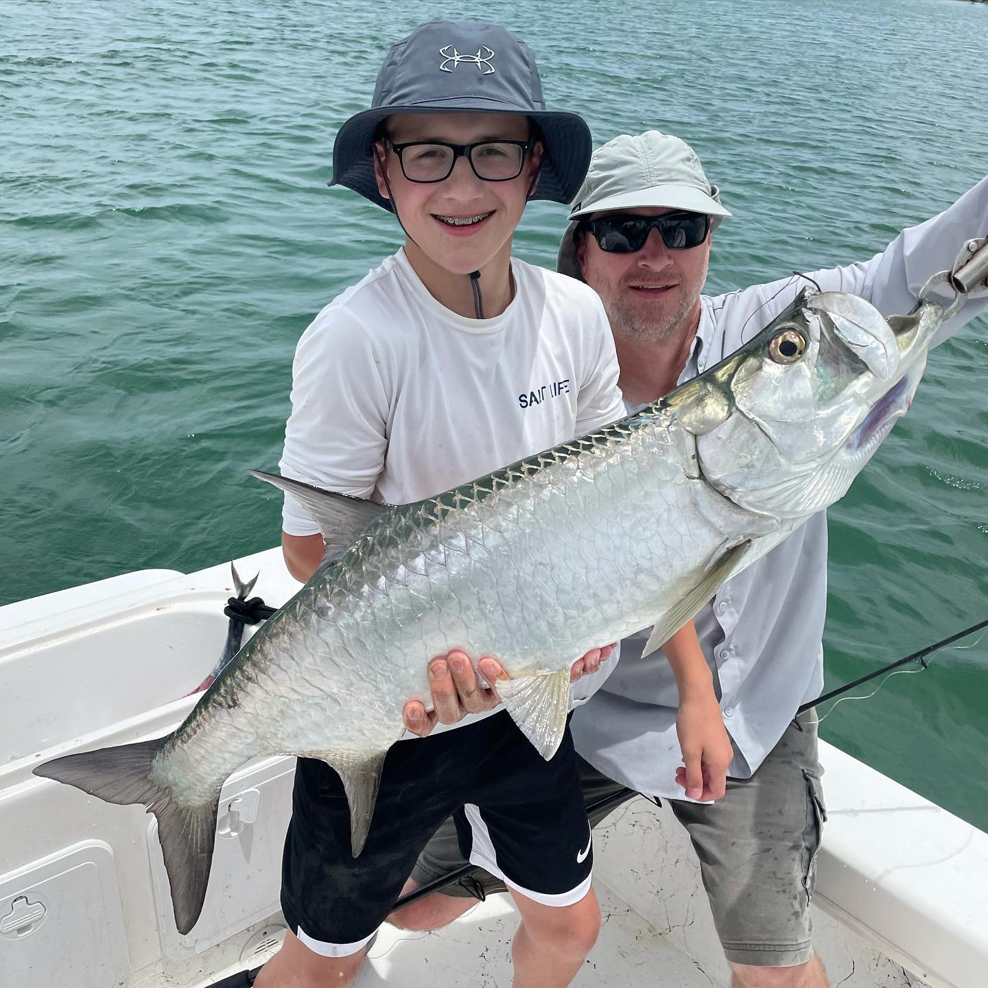 What a day in Biscayne Bay for the Dillaber Family from Wisconsin! Great  day on the reef the first day with me, then the second day they had a great day offshore with @landh_sportfishing , then they finished it today with insane Seatrout action on artificials, good Mangrove Snapper action, And then each of the boys caught their first Tarpon to cap it off! #GOHARDFISHING #miamibeach #charterfishing #miamisluckiestcharterboat #GOHARDINTHEPAINT @starbrite_com @captharrysfishingsupply @pennfishing thanks for your continued support Dillaber family!  Its great to watch the little ones grow and progress their angling skills forward.
